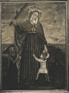 Anonimo , Anonimo umbro sec. XV/ XVI - Madonna del Soccorso - insieme