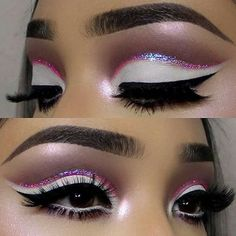 The best glitter eyeshadow looks to inspire you! Loose glitter and gold glitter are perfect for creating an amazing glitter eyeshadow look. Rave Makeup, Makeup On Fleek, Kiss Makeup, Makeup Art, Beauty Makeup, Exotic Makeup, Makeup Drawing, Fairy Makeup, Mermaid Makeup