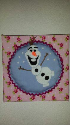 Olaf van vilt op canvas