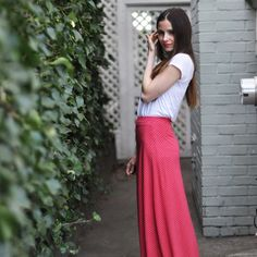 DIY Quick A-Line Maxi Skirt - FREE Sewing Tutorial