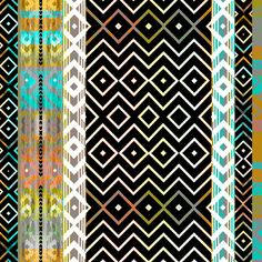 Aztec Bands fabric by joanmclemore on Spoonflower - custom fabric