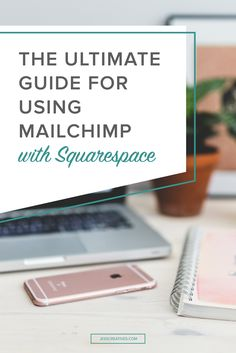The Ultimate Guide for Using Mailchimp with Squarespace // With social media feeds becoming more and more noisy, email marketing has become more instrumental in reaching your audience. But, setting it all up can be a little overwhelming when you're just s E-mail Marketing, Marketing Website, Email Marketing Design, Email Marketing Strategy, Email Design, Marketing Digital, Content Marketing, Internet Marketing, Online Marketing