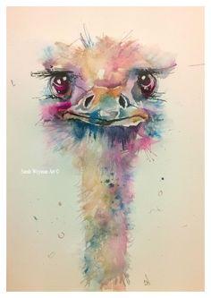 "Original Watercolour "" Betty ~ Attitude is Everything "" see it on facebook, Sarah Weyman Art :)"