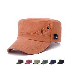 Man Woman's Letter Snapback Vintage Army Hat Cadet Patrol Adjustable Baseball Cap Unisex Flat Top Trucker  Cap #Affiliate