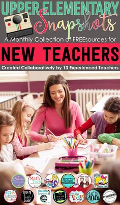 Tips and Resources for New Teachers, created by the teachers at Upper Elementary Snapshots. Perfect for new teachers who are looking for tips to start the new school year!