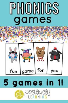 Even your most reluctant reader won't be able to resist these phonics BLAST games! I used these with my reading intervention groups to practice Fry sight words, CVC words, CVCe words, and phonics sound-spellings.  There's also a set of alphabet cards, too! Mix and match the sets for easy differentiation! #phonicsgames #readingintervention
