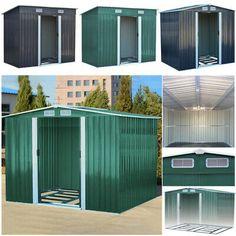 Outdoor Metal Garden Storage Pent Apex Roof Sheds Garden Storage Units, Garden Storage Shed, Storage Sheds, Metal Shed, Metal Roof, Bin Store Garden, Roof Cladding, Apex Roof