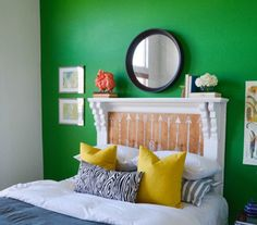 Mantel Headboard | A headboard can give your bedroom a more polished, finished look. But if you haven't gotten around to buying one (or can't afford the splurge), why not make your own? Take a look at these DIY headboard ideas that range from easy to advanced.
