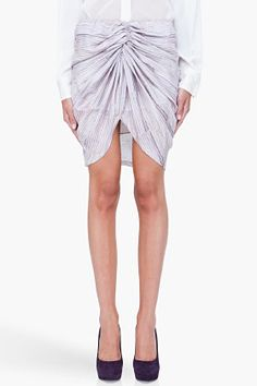 loooove this skirt!!! SEE BY CHLOE Striped Center Ruched Skirt
