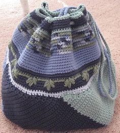 Ravelry: Project Gallery for Crocheted Swirling Bag pattern by Kathy Merrick