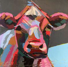 """Milk"" Oil Cow Painting by Kate Mullin Williford. www.katemullinart.com"