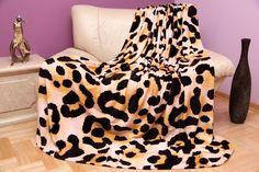 Krémovo hnedá deka so škvrnami