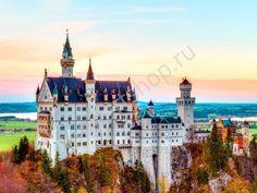 Замок Neuschwanstein. Бавария, картина раскраска по номерам, размер 40*50см, картины своими руками. 750 руб.
