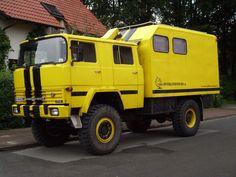 Magirus Typ 170 D als allradgetriebenes und geländegängiges Campingfahrzeug.