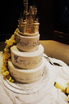 """""""and they lived happily ever after"""" disney cake"""