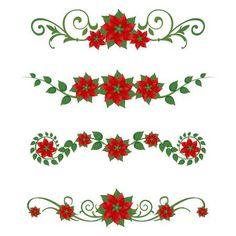 Set of Christmas poinsettia ornaments Christmas Words, Christmas Flowers, Christmas Paper, Christmas Bells, Christmas Design, Christmas Colors, Christmas Crafts, Christmas Poinsettia, Euphorbia Pulcherrima