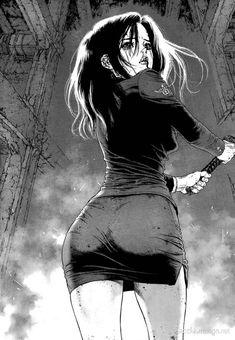 Shared by Sun Ken Rock HQ Extras Anime Sexy, Dark Anime, Art Anime Fille, Anime Art Girl, Manga Girl, Boichi Manga, Manga Comics, Manga Drawing, Marvel Comics