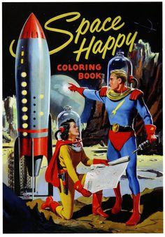 Space Happy coloring book.