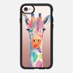 Rainbow Giraffe iPhone - Classic Grip Case