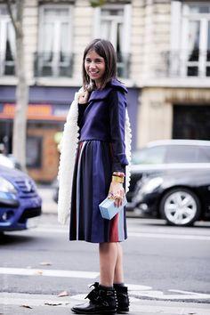love that outfit. #NatashaGoldenberg in Paris.
