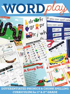 Get 1 FREE week of 1st and 2nd Grade Phonics & Chunk Spelling instruction…