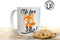 Oh for FOX sake Mug Water Bottle and/or Thermos by UncleJesses zero fox given funny mug gift idea