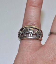 Sterling Silver & Marcasite Elephant Ring Elephant Ring, Marcasite, Rings For Men, Silver Rings, Sterling Silver, Jewelry, Men Rings, Jewlery, Bijoux