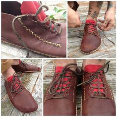 Wayfarer Lace Up Moccasins Custom made by RustedAntlerDesigns