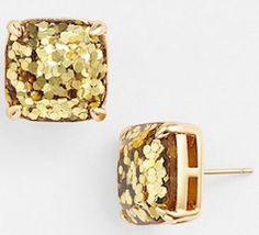 Glitter Kate Spade earrings