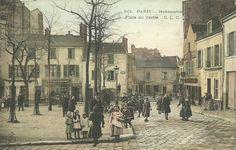 place du Tertre - Paris 18e - La place du Tertre à Montmartre vers 1900.