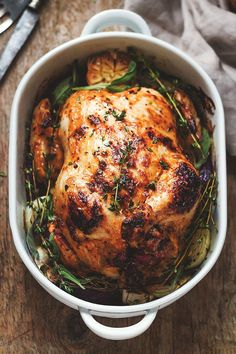 Mayonnaise Roasted Whole Chicken - Amazing chicken roasted to perfection with an incredible mayonnaise rub that everyone will love!