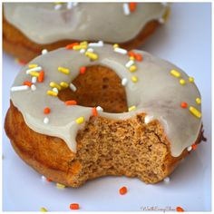 Vanilla Frosted Pumpkin Protein Donuts