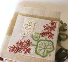 Art Quilt Journal (Red Geranium). rebeccasower