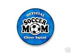 "SOCCER MOM 3"" PIN BACK BUTTON / BADGE - Decorative Greetings, Inc. #DecorativeGreetingsInc #badgebutton"