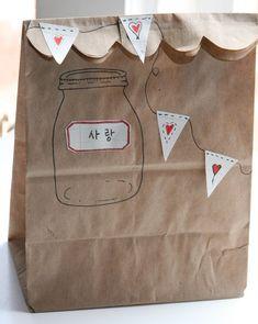 Korean Love Gift Bag Tutorial :: by Jenny Doh