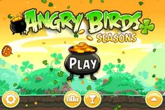 Angry Birds Seasons Go Green Get Lucky Main Screen