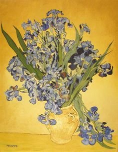 Irises (Vincent van Gogh) by Peco Art ... Oil on canvas, 70x90cm ...