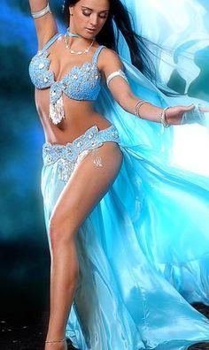 Blue Bellydance costume