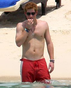 Harry showed off his impressive abs while on vacation in Mauritius in Dec. 2008.