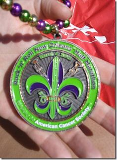 NOLA Rock n Roll Half Marathon I have one of this medals ;)