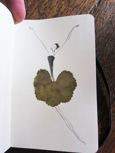 Incredible Pressed Leaf Art by The Sketching Backpacker. A visit to the link offers more exciting sketches that incorporate leaves and stylized sketches of women. Art And Illustration, Illustrations, Art Et Nature, Nature Crafts, Leaf Drawing, Painting & Drawing, Art Floral, Pressed Flower Art, Leaf Art
