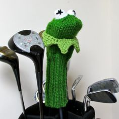 Its not easy being green. This Kermit the Frog golf club cover pattern will fit right in with the color of the leaves. He is sized to fit most clubs. Materials: US size 8 DPNs or circular needles Less then 200 yards of each color worsted weight yarn. Difficulty: intermediate. Requires knitting in the round and duplicate stitch. Dont know how to knit in the round? let me teach you: http://youtube.com/traceyknits Pattern will be sent to you via email within 24 hours of ...