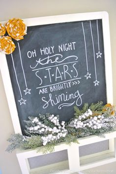 Oh Holy Night Chalkboard