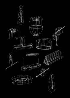 Exposition : Luminaries Luminaries, development sketches © Studio Glithero