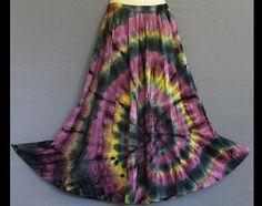 Spiral Tie Dye Handmade Purple Yellow by HippieGypsyBohemian, $36.00