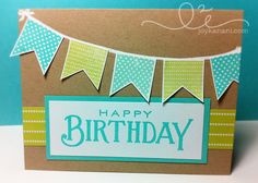 birthday card using @Papertrey Ink stamps