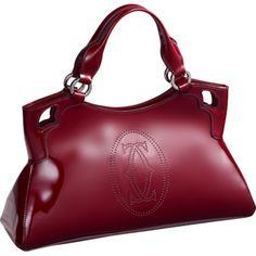 MARCELLO DE CARTIER BAG, SMALL MODEL Burgundy Patent Calf Skin Cartier  Love, Red Bags 994e222efc5e