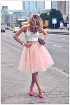 On Sale Beautiful Prom Dresses Short Two Piece Tulle Pink Spaghetti-Strap Sleeveless Homecoming Dresses Looks Street Style, Looks Style, Dress Skirt, Dress Up, Midi Skirt, Flared Skirt, Chic Dress, Skater Skirt, Kleidung Design