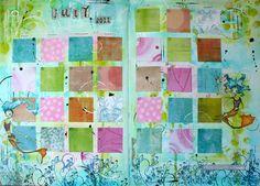 Art Journal - calendar - July ready to go by thekathrynwheel, via Flickr