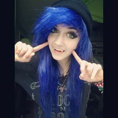 """((Fc:Evelyn Eclipse)) """"Hey. I'm Jade. I love to dye my hair and I play guitar along with the violin. My older brother is Cody. Ummm I want to start a band but I still need members. Anyways, come say hi!"""" I giggle."""